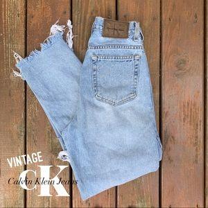 Denim - Vintage Calvin Klein Destroyed High Waist Jeans